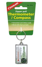 Coghlan's - Zipper Pull Thermometer & Compass