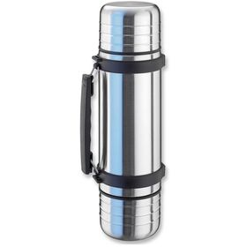Isosteel - Stainless Steel Duo Vacuum Flask 1 Litre - Silver