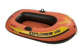 Intex - Explorer 100 Boat - 1 Person Boat Set - Orange