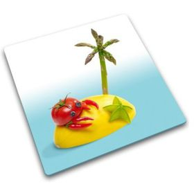 Joseph Joseph - Desert Island Design Worktop Saver - Glass Chopping Board