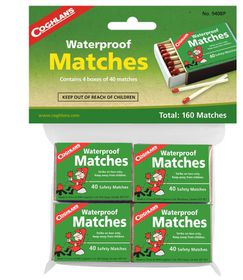 Coghlan's - Waterproof Matches Pack of 4