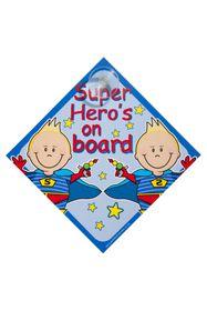 Jackflash - Baby On Board Sign - Super Heroes