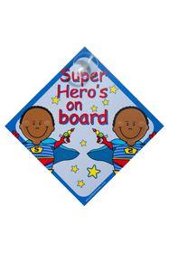 Jackflash - Baby On Board Sign - Super Hero's