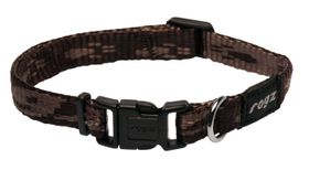 Rogz - Small Alpinist Kilimanjaro Dog Collar - 1.1cm Chocolate
