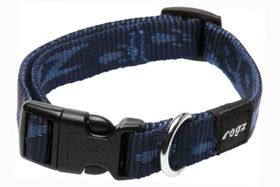 Rogz Medium Alpinist Matterhorn Dog Collar - 16mm Blue