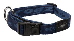 Rogz Large Alpinist K2 Dog Collar - 20mm Blue