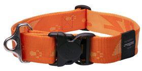 Rogz - Alpinist Big Foot Dog Collar - 2 x Extra-Large - 4cm Orange