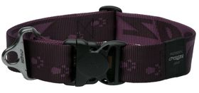 Rogz - Alpinist Big Foot Dog Collar - 2 x Extra-Large - 4cm Purple
