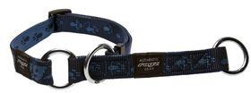 Rogz Medium Alpinist Matterhorn Web Half-Check Dog Collar - 16mm Blue