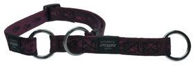 Rogz - Alpinist 16mm Half-Check Dog Collar - Purple