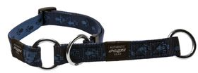 Rogz Large Alpinist K2 Web Half-Check Dog Collar - 20mm Blue