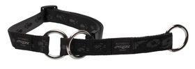 Rogz - Extra-Large Alpinist Everest Web Half-Check Dog Collar - 2.5cm Black