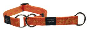 Rogz - Alpinist 25mm Half-Check Dog Collar - Orange
