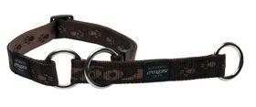 Rogz - Alpinist 25mm Half-Check Dog Collar - Brown
