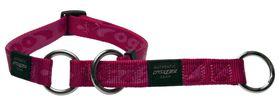 Rogz - Alpinist 25mm Half-Check Dog Collar - Pink