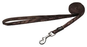 Rogz - Small Alpinist Kilimanjaro Fixed Dog Lead - Chocolate