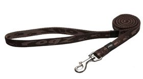 Rogz - Alpinist 16mm Fixed Dog Lead - Chocolate