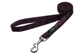 Rogz - Large Alpinist K2 Fixed Dog Lead - 20mm Purple