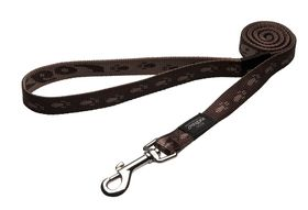 Rogz - Large Alpinist K2 Fixed Dog Lead - 20mm Chocolate