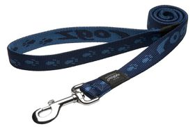 Rogz - Alpinist 25mm Fixed Dog Lead - Blue