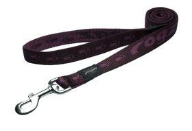 Rogz - Extra-Large Alpinist Everest Fixed Dog Lead - 2.5cm Purple