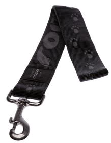 Rogz - Alpinist Big Foot Fixed Dog Lead - 2 x Extra-Large - Black