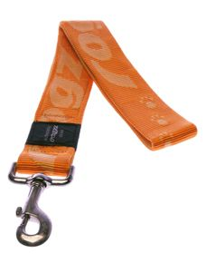 Rogz - Alpinist Big Foot Fixed Dog Lead - 2 x Extra-Large - Orange