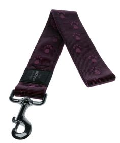Rogz - Alpinist 40mm Fixed Dog Lead - Purple