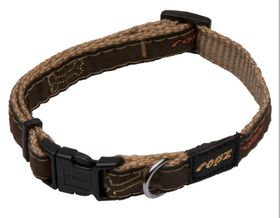 Rogz - Fancy Dress 11mm Dog Collar - Bronze Bone