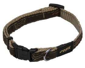 Rogz - Fancy Dress 16mm Dog Collar - Bronze Bone