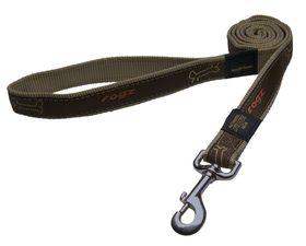 Rogz - Fancy Dress Armed Response Fixed Dog Lead - Extra-Large - Bronze Bone