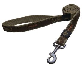 Rogz Fancy Dress Scooter Fixed Dog Lead Medium - 16mm Bronze Bone