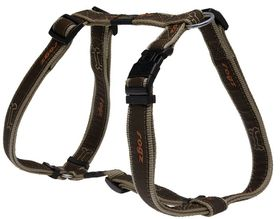 Rogz - Fancy Dress 20mm Dog H-Harness - Bronze Bone