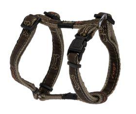 Rogz - Fancy Dress 16mm Dog H-Harness - Bronze Bone