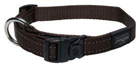 Rogz - Utility 25mm Dog Collar - Chocolate