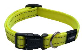 Rogz - Utility Snake Dog Collar - Medium - Yellow Reflective