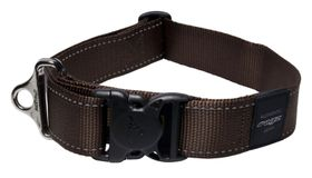 Rogz - Utility 40mm Dog Collar - Chocolate