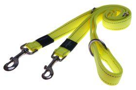 Rogz - Utility Lumberjack Multi-Purpose Dog Lead - Extra-Large 2.5cm - Yellow Reflective