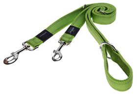 Rogz - Utility Fanbelt Multi-Purpose Dog Lead - Large 2cm - Lime Reflective
