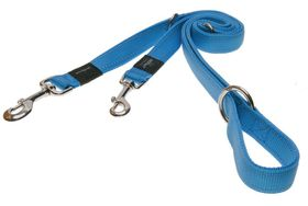 Rogz - Utility Snake Multi-Purpose Dog Lead - Medium 1.6cm - Turquoise Reflective