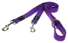 Rogz - Utility Nitelife Multi-Purpose Dog Lead - Small 1.1cm - Purple Reflective