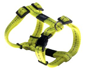 Rogz - Utility Nitelife Dog H-Harness Small - 1.1cm Yellow Reflective