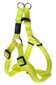 Rogz - Utility Fanbelt Step-in Dog Harness - Large 2cm - Yellow Reflective