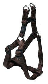 Rogz - Utility Fanbelt Step-in Dog Harness - Large 2cm - Chocolate Reflective