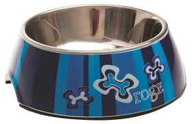 Rogz - 2-in-1 Bubble Dog Bowl - Extra-Large - 1400ml Indigo Bone
