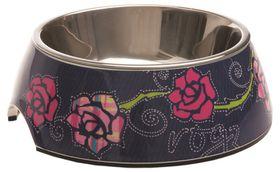 Rogz - 2-in-1 Bubble Dog Bowl - Extra-Large - 1400ml Denim Rose