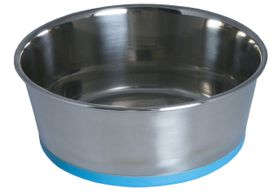 Rogz - Stainless Steel 550ml Slurp Bowl - Blue Base