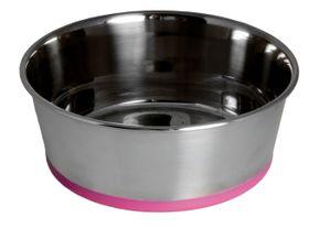 Rogz - Stainless Steel 3700ml Slurp Bowl - Pink Base