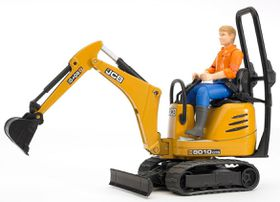 Bruder JCB Micro Excavator with Construction Worker - 8010