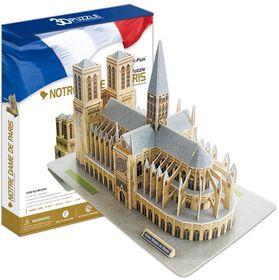Cubic Fun Notre Dame de Paris France - 74 Piece 3D Puzzle
